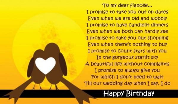 52 Best Happy Birthday Poems My Happy Birthday Wishes – Fiancee Birthday Card