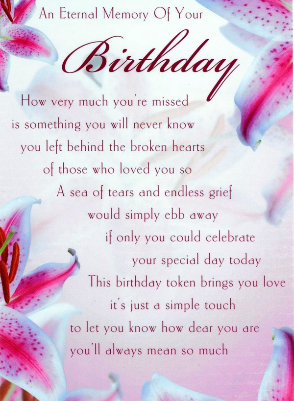Birthday Wishes In Heaven For Husband