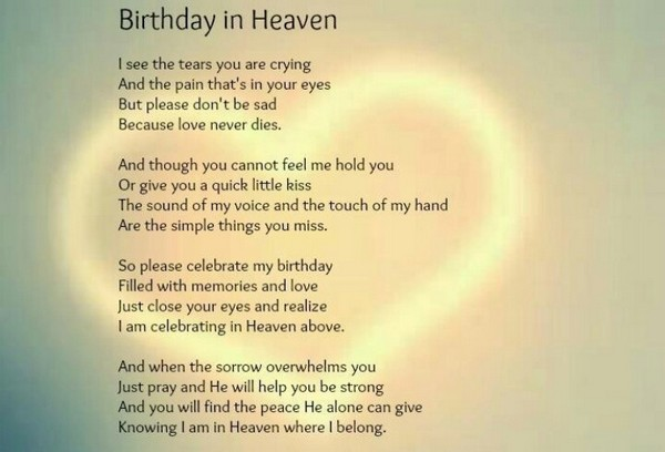 72 Beautiful Happy Birthday In Heaven Wishes My Happy Birthday Wishes