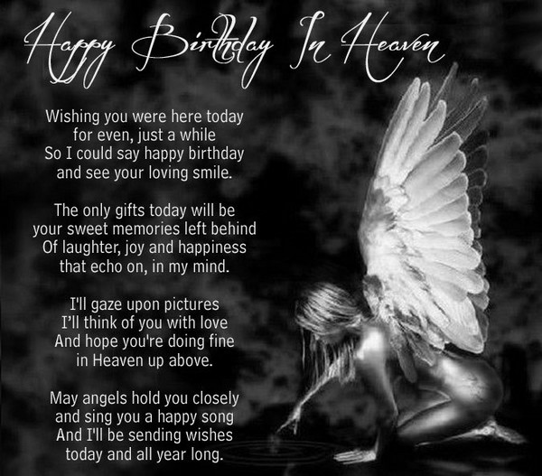Birthday Wishes In Heaven Poem