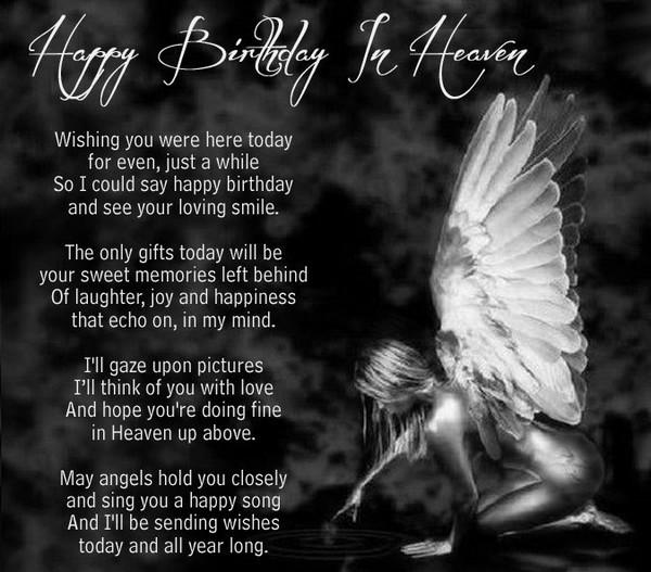 Birthday Wishes In Heaven Poem