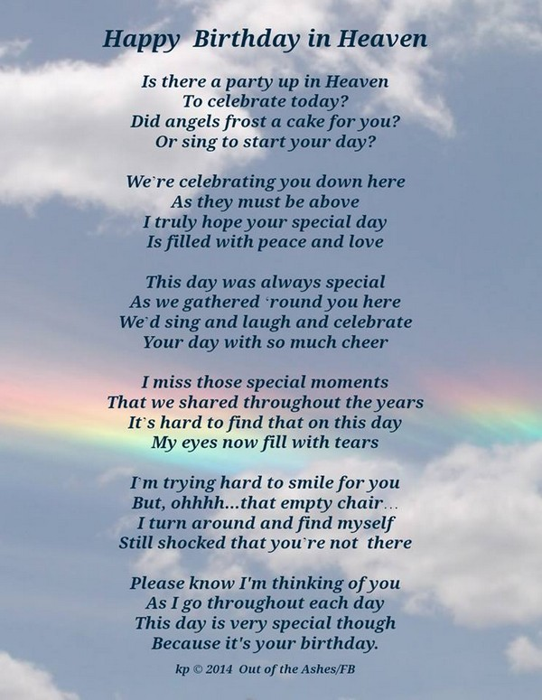 72 Beautiful Happy Birthday in Heaven Wishes - My Happy ...