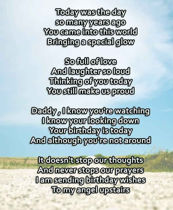 Dad Happy Birthday In Heaven Quotes