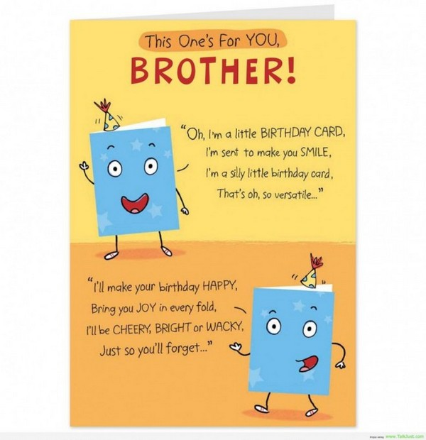 Funny Birthday Quotes Brother