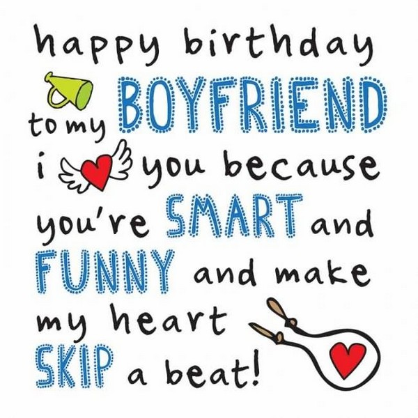 Happy Birthday Poems For Him Cute Poetry For Boyfriend Or: Cute Birthday Wishes