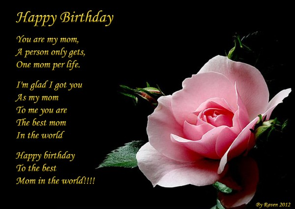 Happy Birthday For Mothers