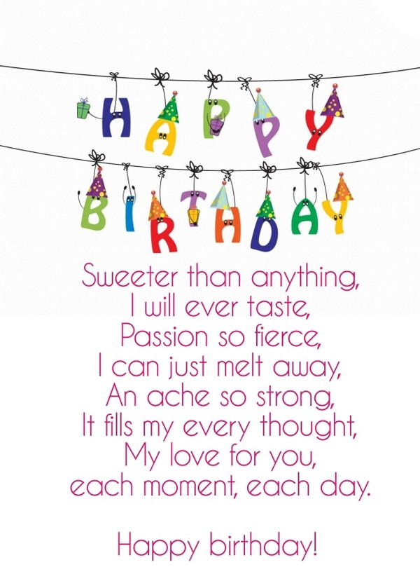 52 Best Happy Birthday Poems - My Happy Birthday Wishes