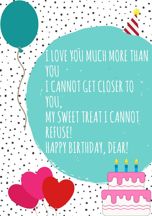 Terrific 52 Best Happy Birthday Poems My Happy Birthday Wishes Personalised Birthday Cards Veneteletsinfo