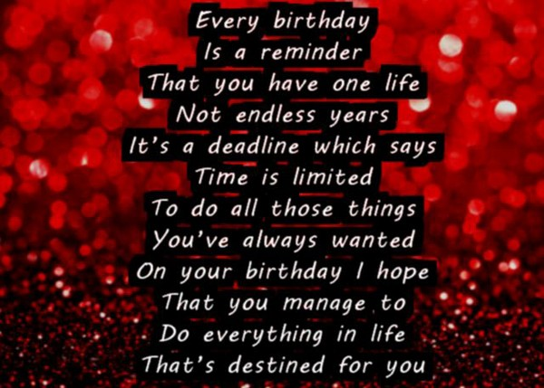 Happy Birthday Poems For Friend
