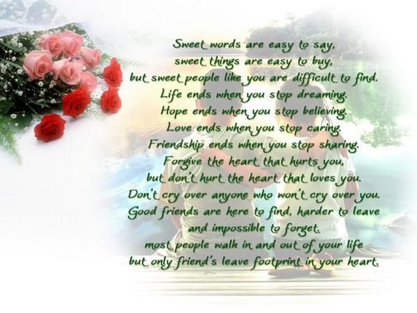 Happy Birthday Poems For My Best Friend
