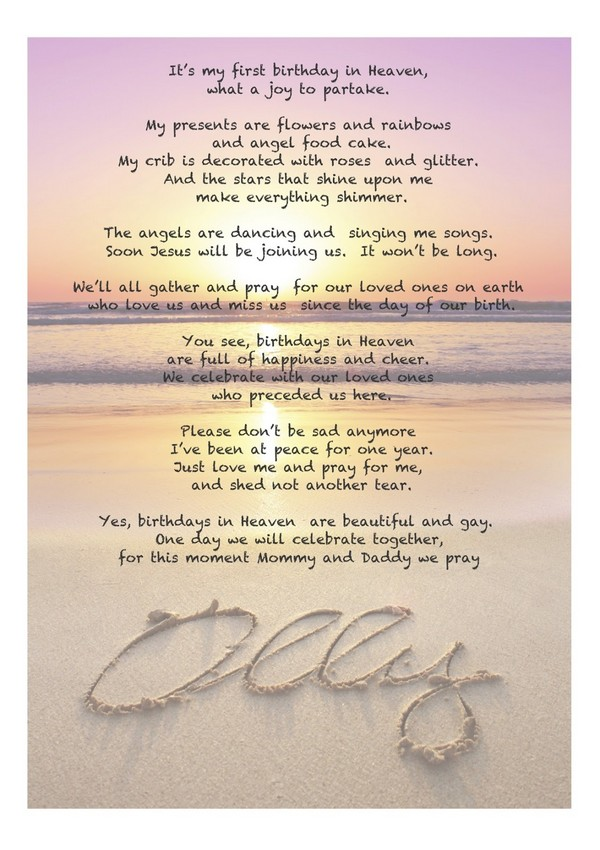 Happy Birthday Wishes For A Loved One In Heaven