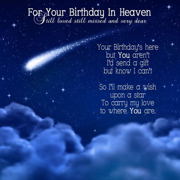 Happy Birthday Wishes In Heaven