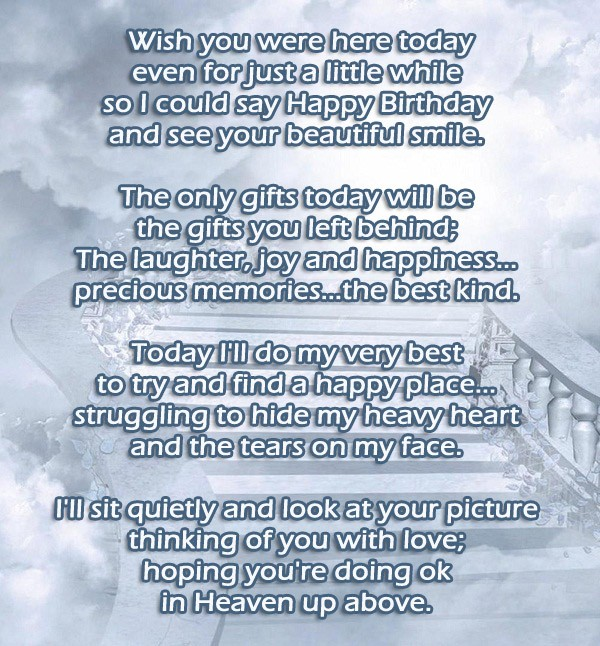 Sister Birthday Wishes In Heaven