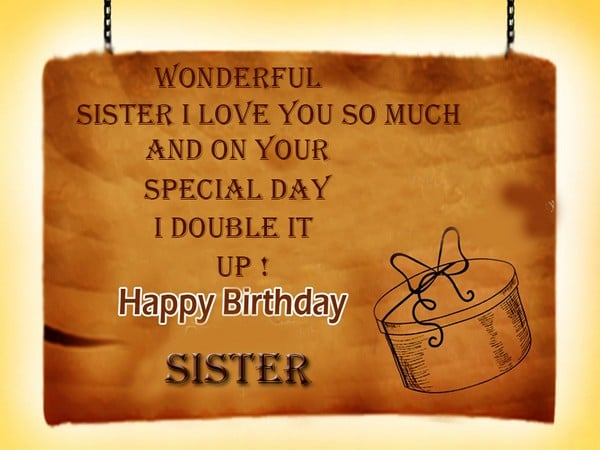 Special Birthday Wishes For Sister