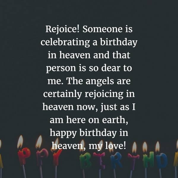 Swet Happy Birthday In Heaven