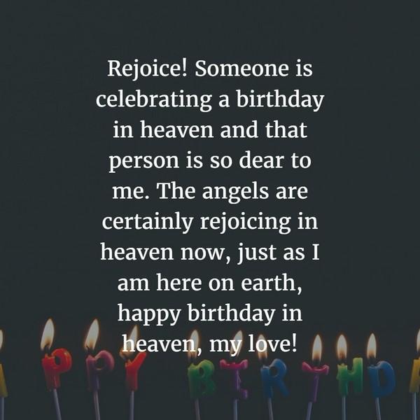 Swet Happy Birthday In Heaven