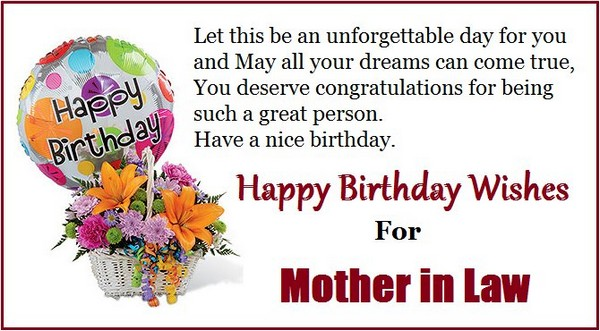 Birthday Sms For Mother In Law