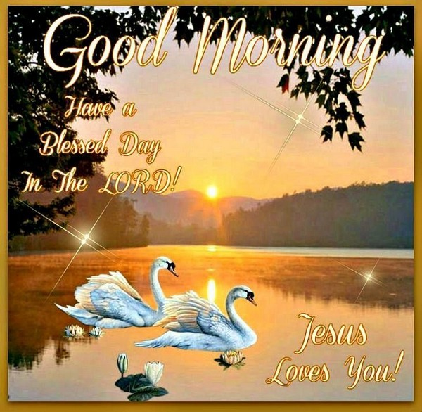 Good Morning Jesus Loves You