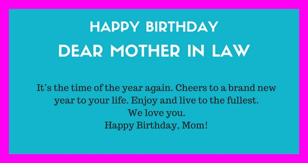 Happy Birthday Dear Mother In Law