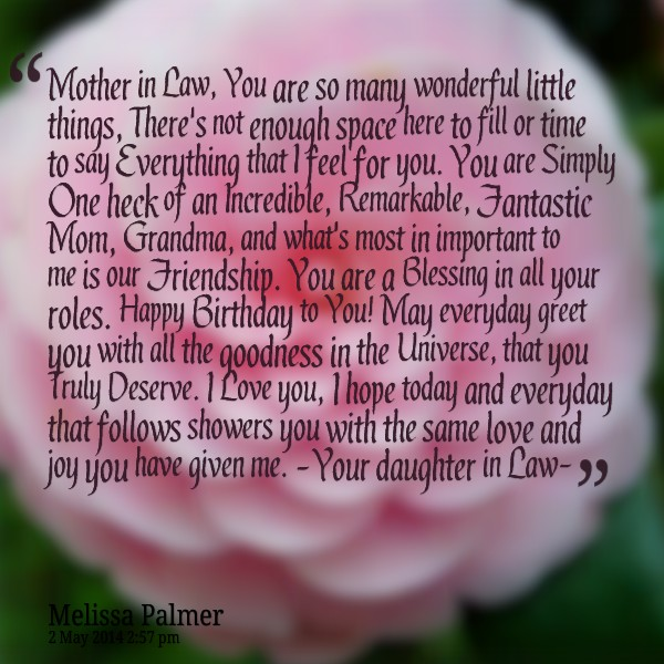Happy Birthday Mother In Law Quotes