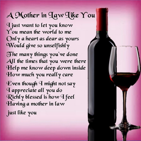 Mother In Law Poem