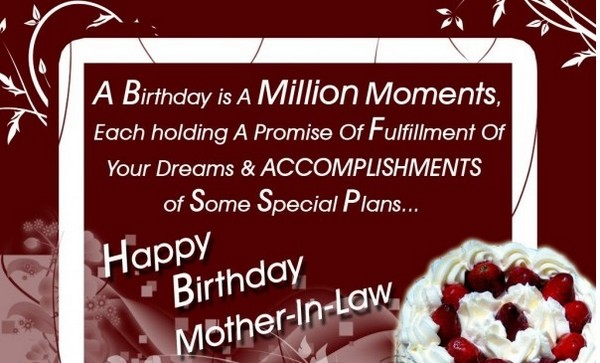 wishes to mother in law on her birthday