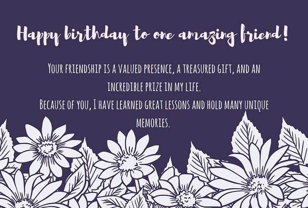 Happy Birthday To One Amazing Friend