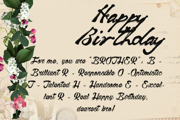 Birthday wishes for brother 200 funniest happy birthday wishes 2018 best happy birthday wishes for brother m4hsunfo Images