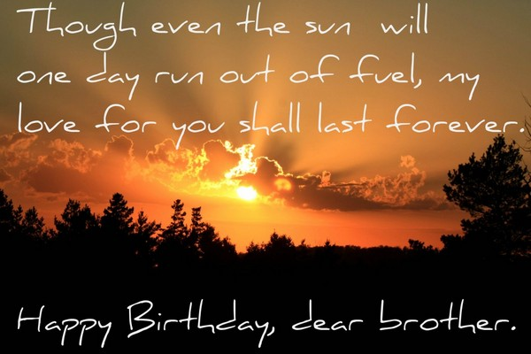 Birthday Wishes For Brother In Heaven