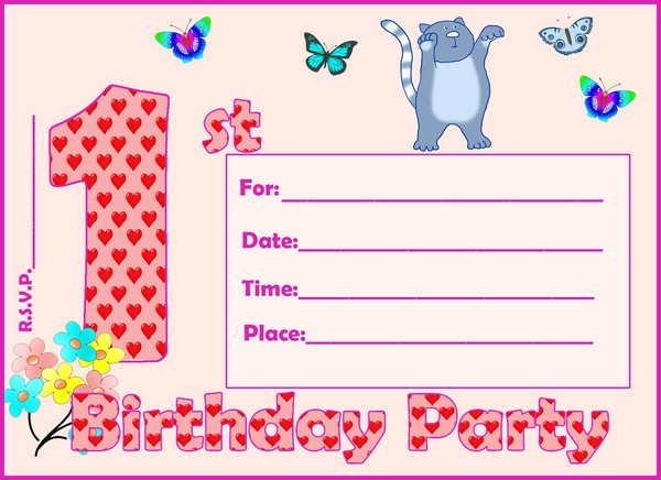 1St Birthday Invitations Templates