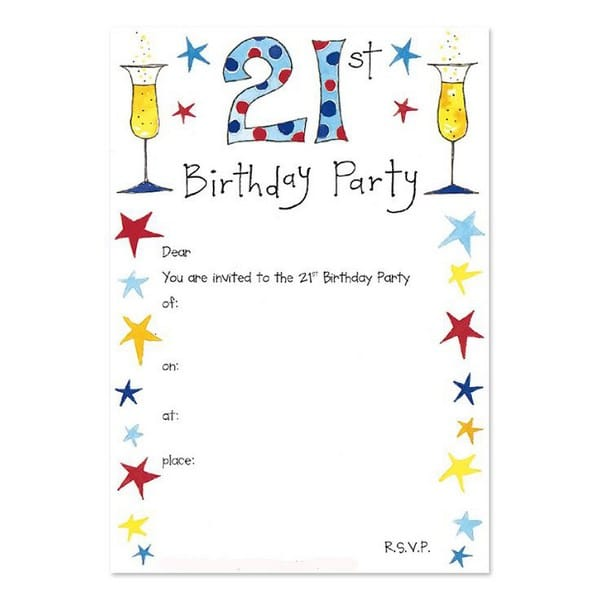 21St Birthday Invitations For Guys
