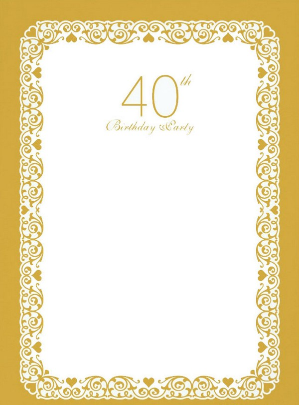 40Th Birthday Invitations Online