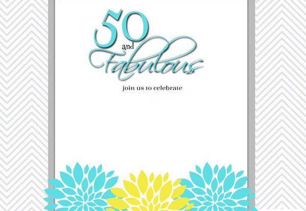 50Th Birthday Invitations For Him Templates