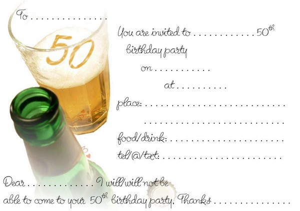 50Th Birthday Invitations