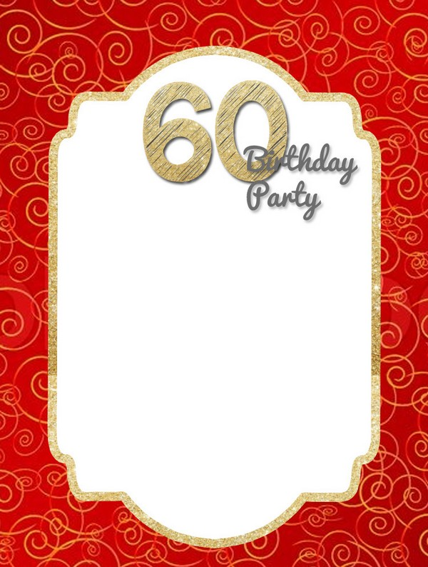 60Th Birthday Invitations Wording Male