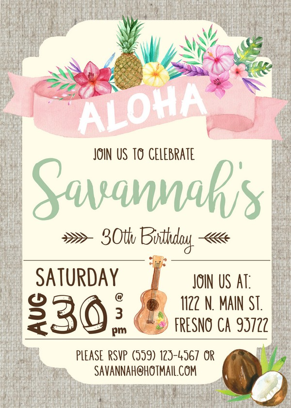 Birthday Invitations Background