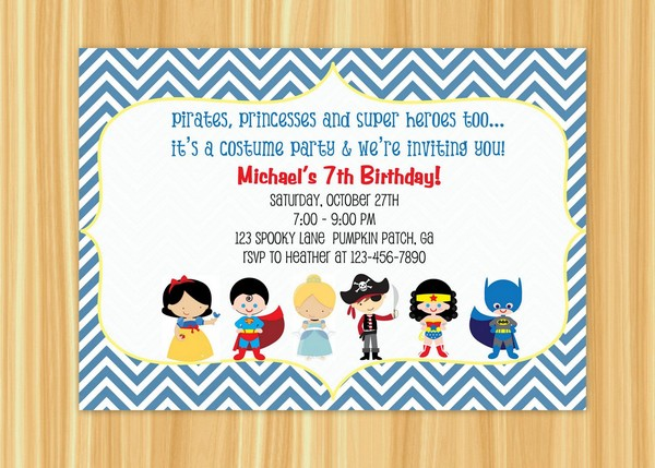Birthday Invitations Sample
