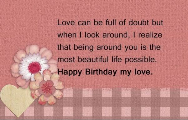 Birthday Special Wishes For Lover