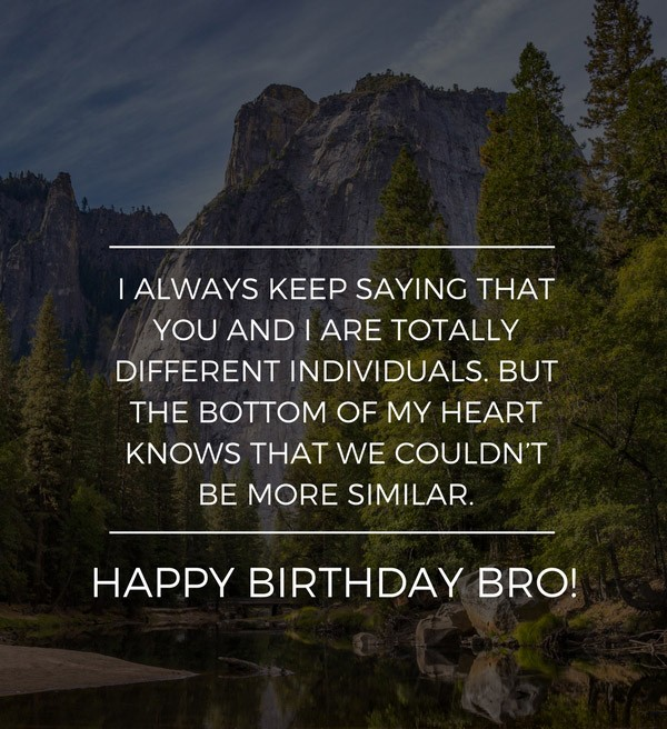 Birthday Wishes For Brother From Sister Quotes