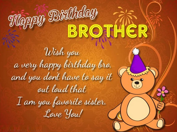 Birthday Wishes For Brother Images Funny