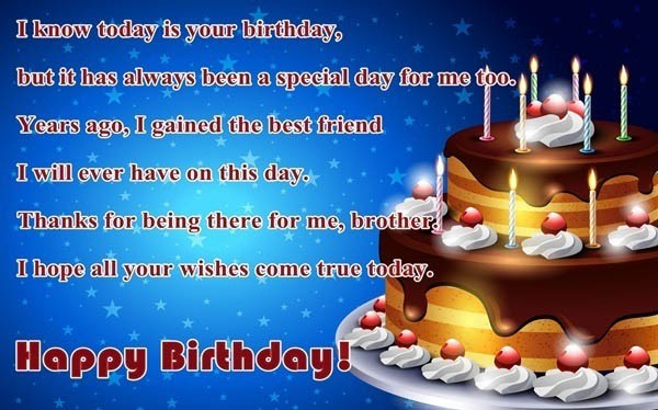 Magnificent 200 Best Birthday Wishes For Brother 2020 My Happy Birthday Wishes Personalised Birthday Cards Veneteletsinfo