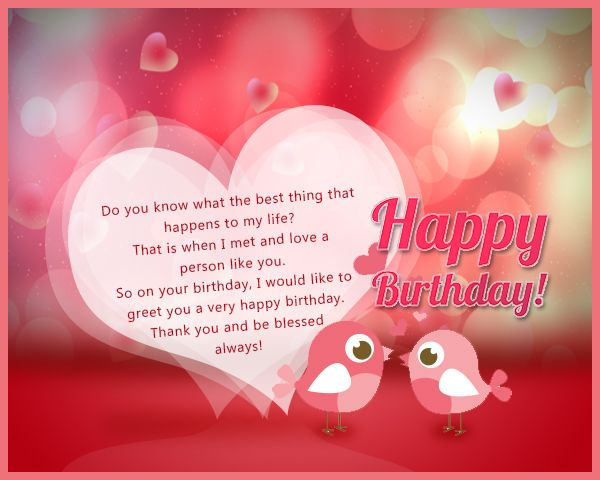 Birthday Wishes For Lover In English