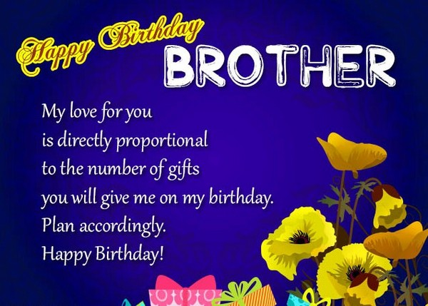 Birthday wishes for brother 200 funniest happy birthday wishes 2018 birthday wishes for younger brother m4hsunfo Images