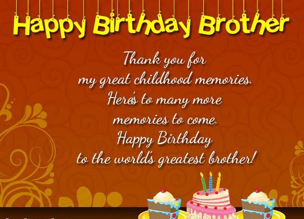 Birthday Wishes Images For Brother From Sister