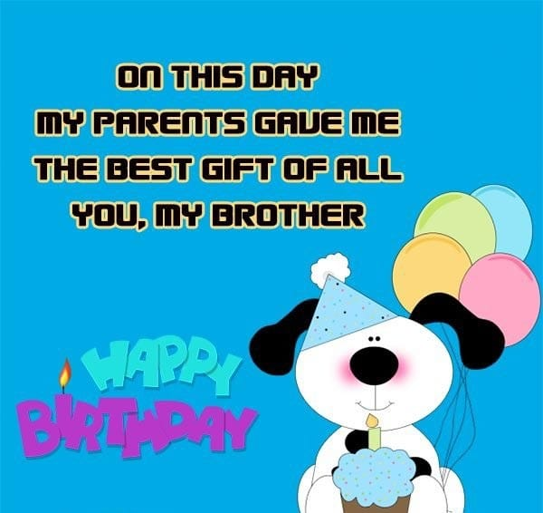 Birthday Wishes Sms For Brother