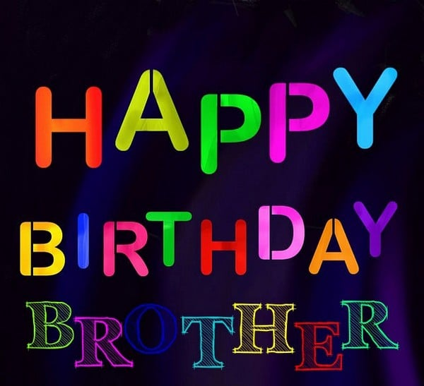 Birthday Wishes To Brother Images