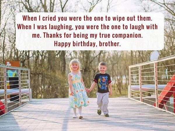 Brother Birthday Quotes From Sister
