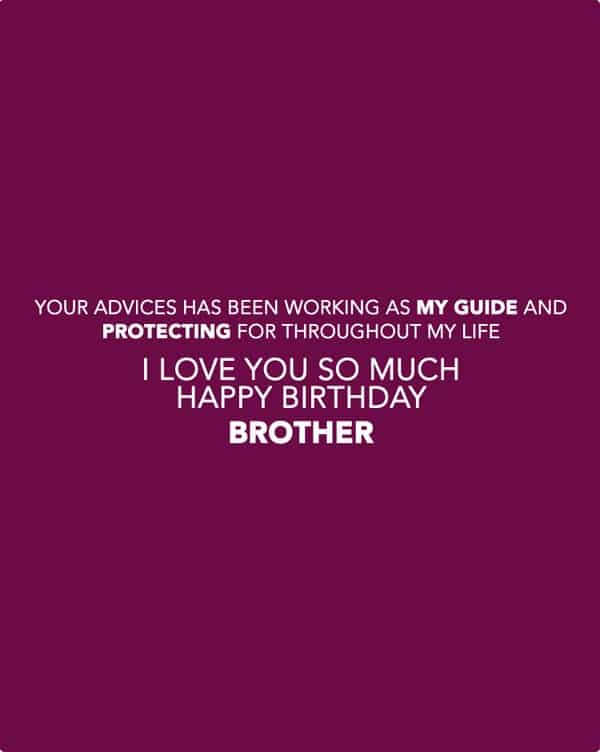Cute Birthday Wishes Quotes For Brother