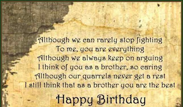 Funny Quotes On Birthday Wishes For Brother