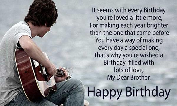 Happy Birthday Big Brother Poems